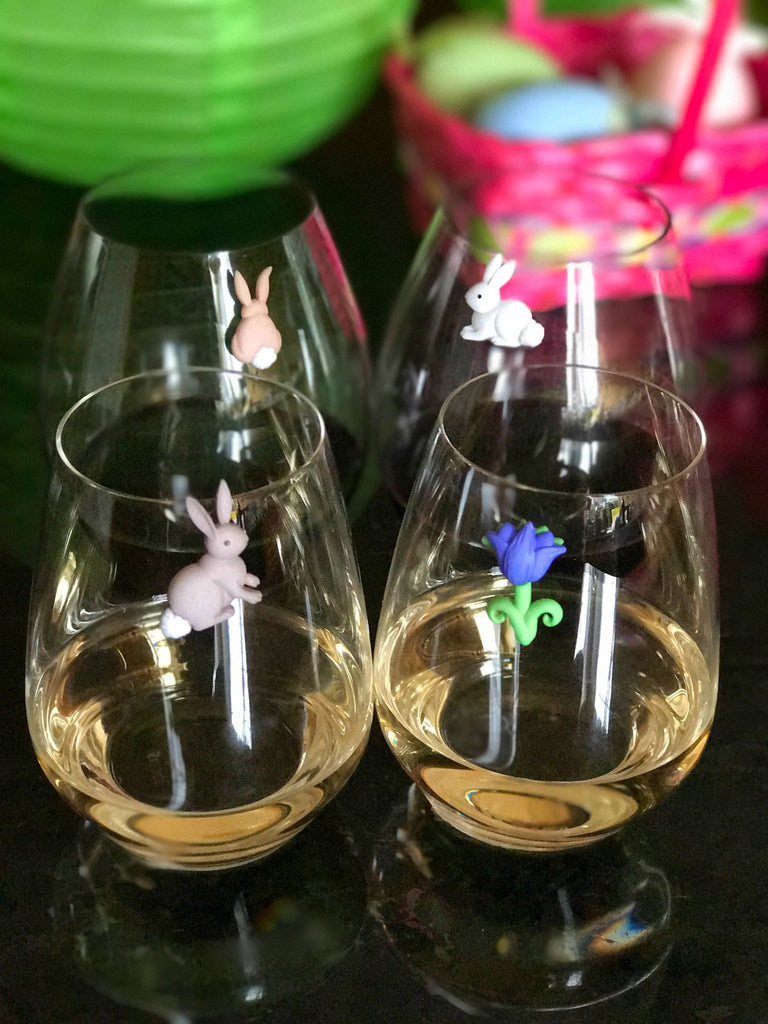 wine glass charms Easter Spring