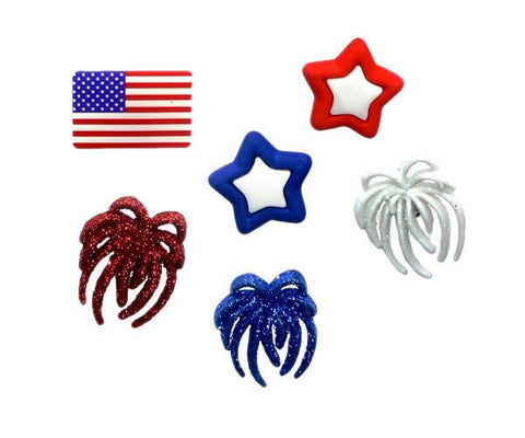 Patriotic 4th of July Charms