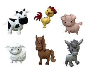Barnyard Friends - Farm Animal Wine Charms