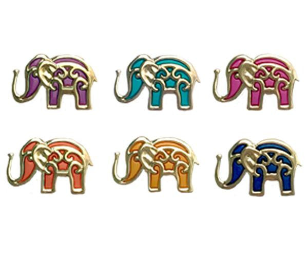 wine glass charms elephants magnetic