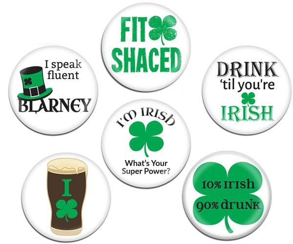 St. Patrick's Day Magnetic Glass Markers and Charms