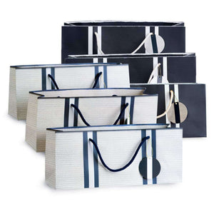 Navy / White Combo Wine Purse Collection Set of 6