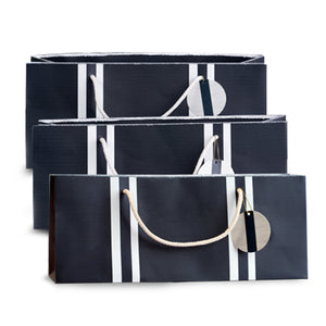 navy nautical wine gift bags