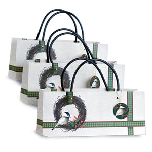 chickadee wine gift bag