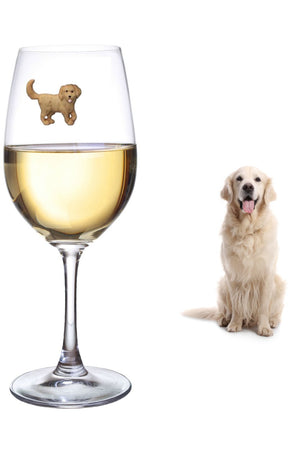 golden retriever lab wine charms