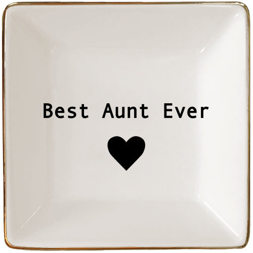 Best Aunt Ever Jewelry Tray