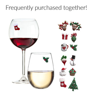 Christmas magnetic wine charms