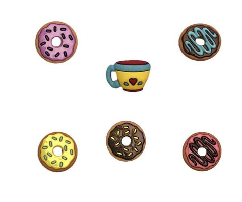 donut wine charms magnetic glass markers