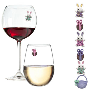 Easter Bunny Wine Glass Charms