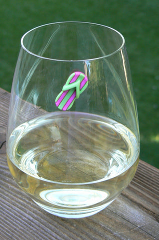 flip flop magnetic wine charms