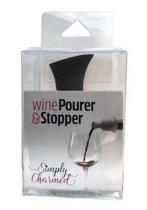 wine stopper pourer