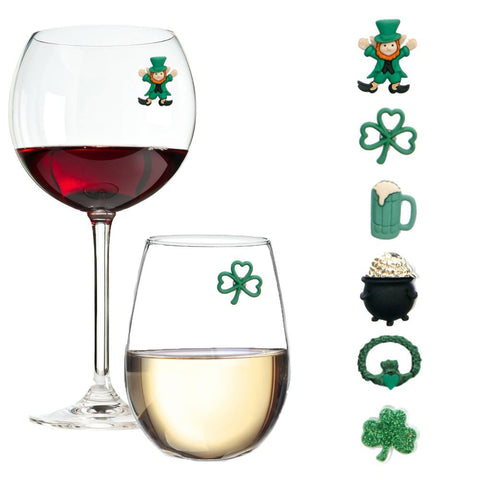 st patricks day wine charms