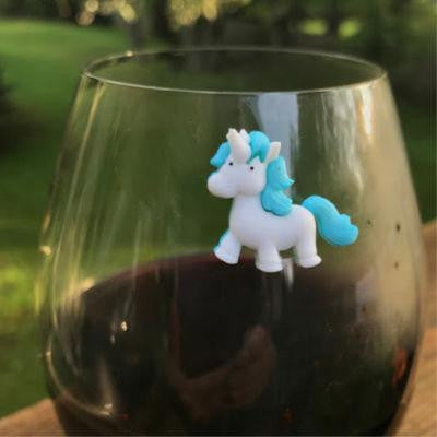 Cute Unicorn Wine Charms