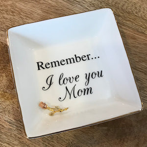 love you mom jewelry tray