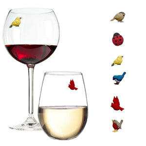 Bird Stemless Glass Wine Charms