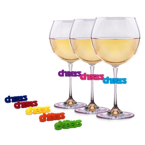 silicone wine charms cheers