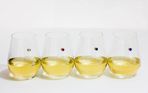 Swarovski™ Crystal Set of 8 Magnetic Wine Charms