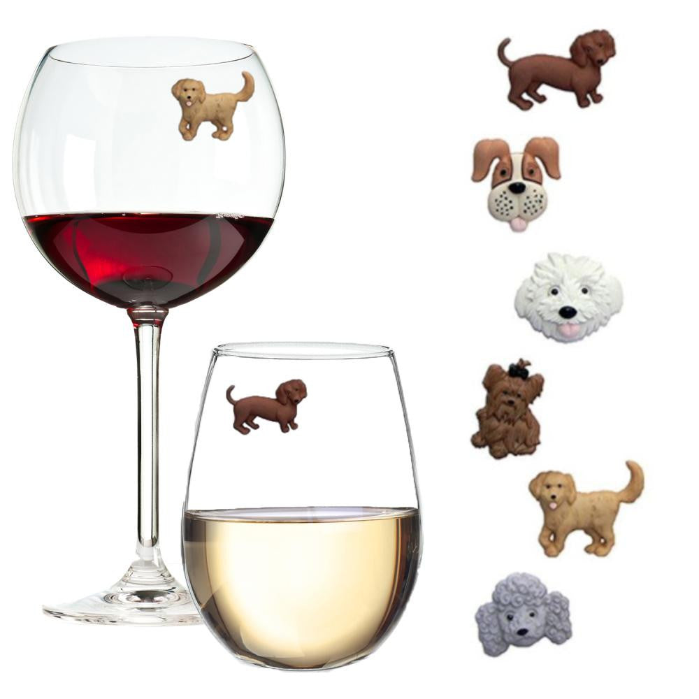 It S A Dog S Life Animal Themed Wine Charms Simply Charmed