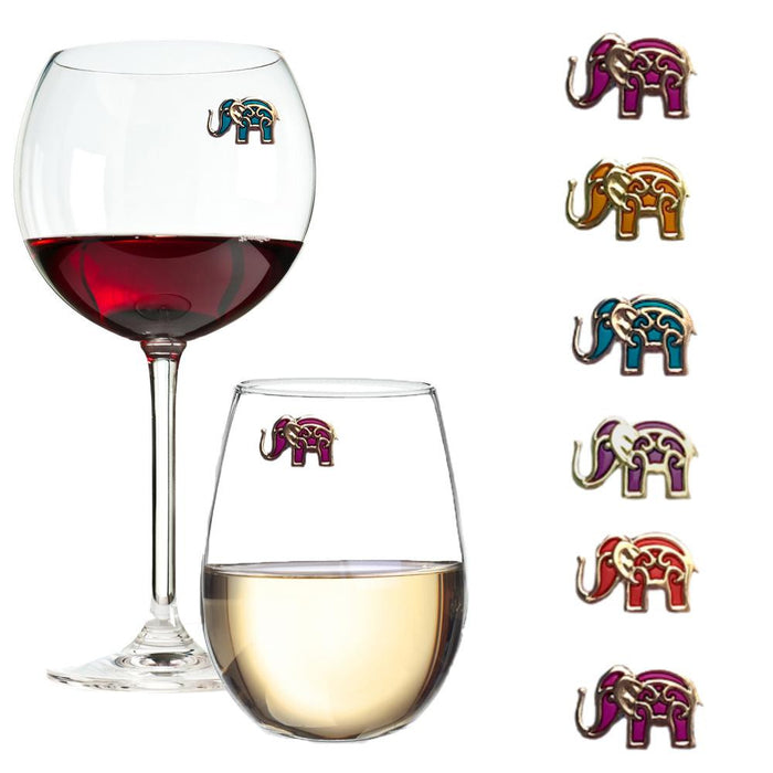 Bali Elephants Wine Charms