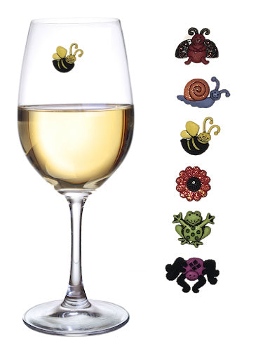 Garden Guests Magnetic Wine Glass Charms