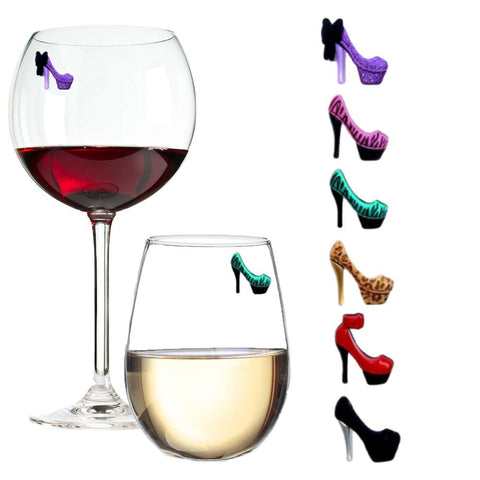 high heel shoe wine charms