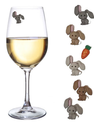 easter bunny wine charms