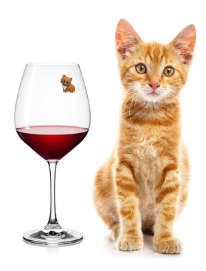 wine charms cat lover
