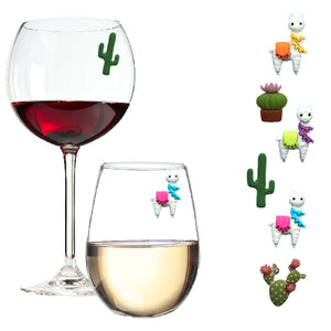 llama magnetic wine charms