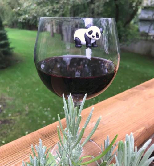 Panda - monium! Wine Charms for the Panda Lover