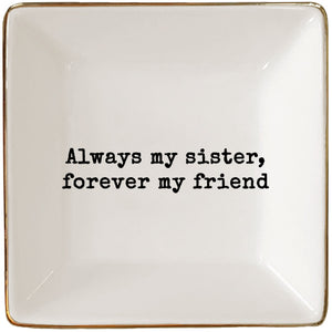 sister friend jewelry tray