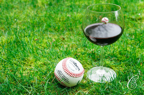 Sports wine glass markers