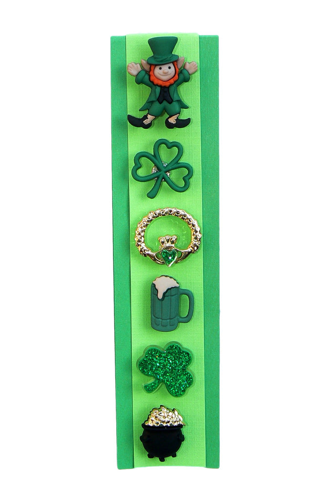 wine glass markers Irish shamrock