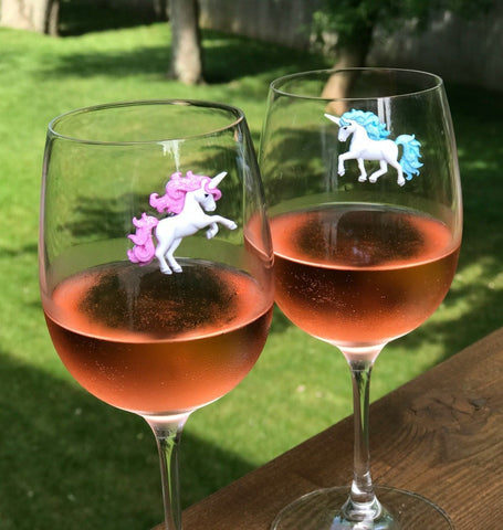 wine charms unicorn dragonfly glass markers