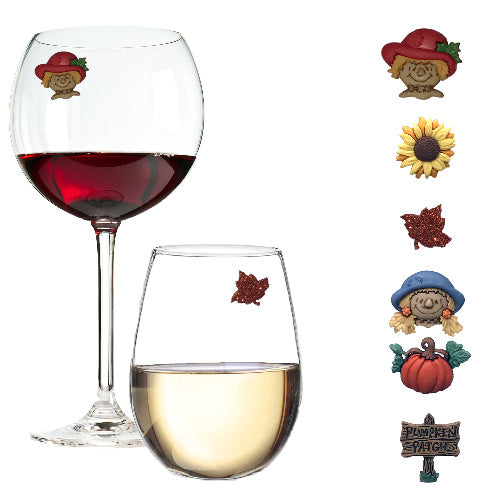 Fall Wine Glass Charms