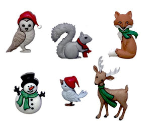 wine charms winter animals holiday