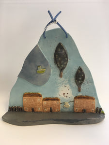 CREATE YOUR OWN CLAY TOWN WALL HANGING 2 Session WORKSHOP  WED 19th MAY 7pm - 8:30 and THURS 27th MAY