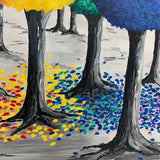 Zoom Paint Night!! Rainbow Trees Wednesday 13th May 7pm - 9pm