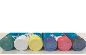 Set of Acrylic Paints for Pottery Painting