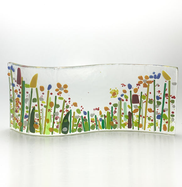 Glass Fusing Flower Field Wave - Fused Glass at Home Downloadable Video and Glass Kit