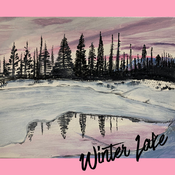 JANUARY WINTER LAKE - ZOOM Paint Night THURSDAY 28th JAN 2021
