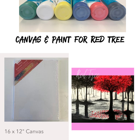 Red Tree - Canvas & Paints