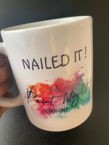 The Paint Night Co Ceramic Mug NAILED IT