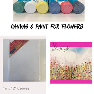 Flowers - Canvas & Paints