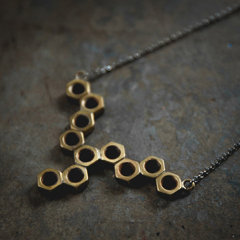 Screw Cap Honeycomb Necklace 螺絲帽項鍊