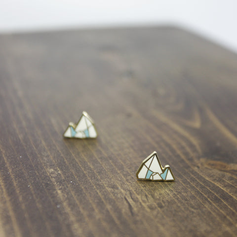 冰山摺紙耳環 Iceberg Origami Earrings