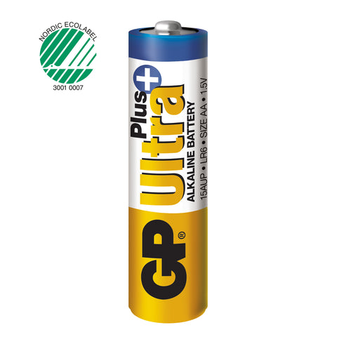 GP Ultra Plus Alkaline AA-batteri 2-pack
