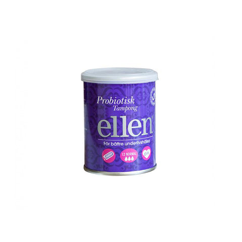 ellen® Probiotisk Tampong, Normal - 12 pack