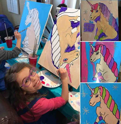 Unicorn Painting for Kids Party