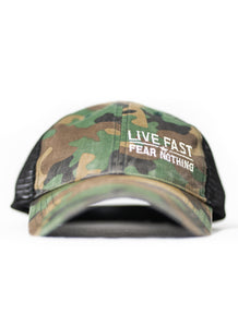 Camo Live Fast Unstructured Snapback