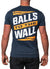 Balls to the Wall - Navy/Orange Tee
